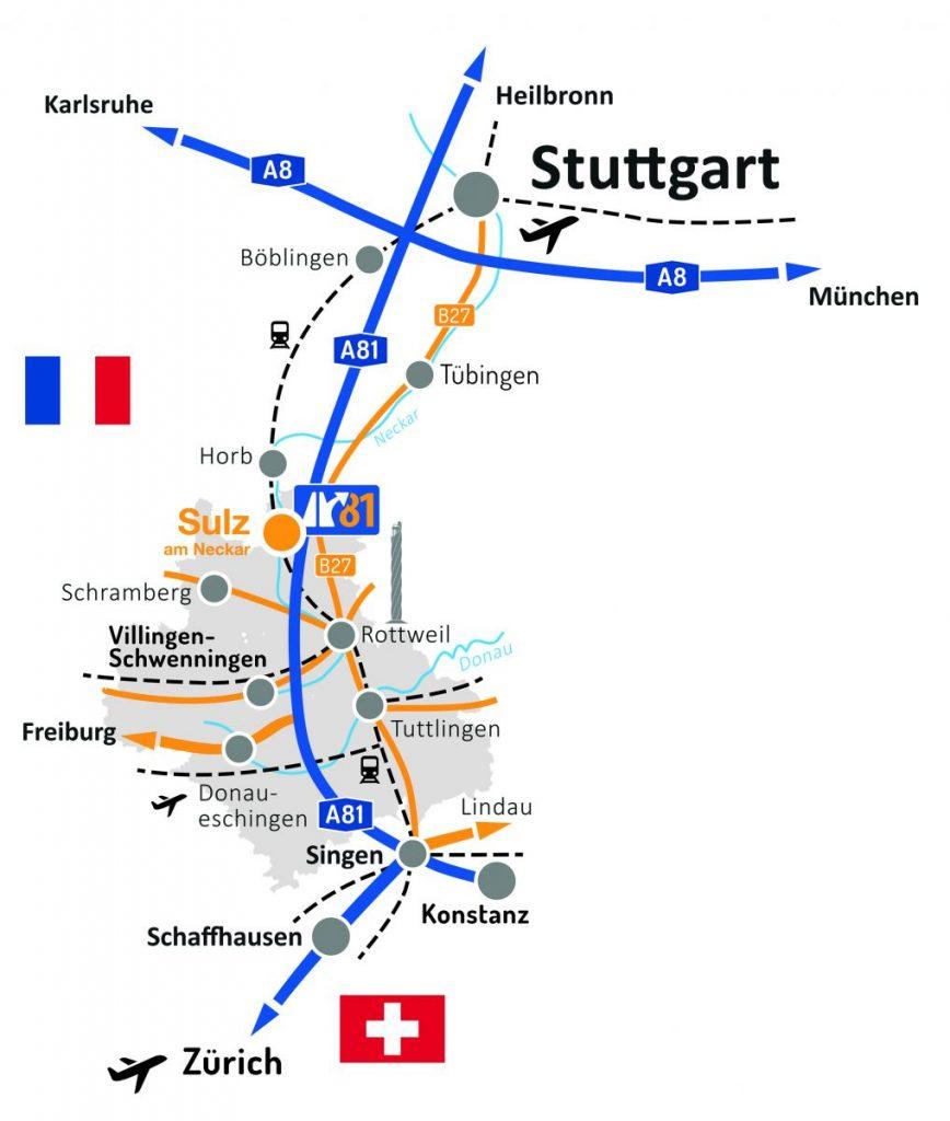 Lage von Best Invest A81 bei Sulz am Neckar
